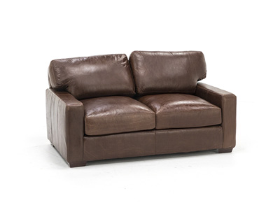 Wicker Park Leather Loveseat