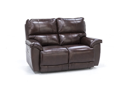 Norris Leather Power Headrest Loveseat