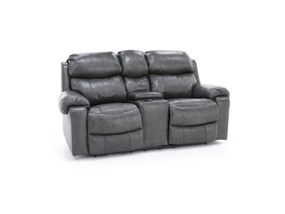 Logan Power Recline Console Loveseat