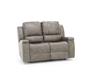 Braxton Leather Power Recline with Power Headrest Loveseat