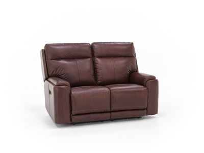 Tyson Leather Power Headrest Loveseat