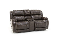 Milan Power Recline Console Loveseat