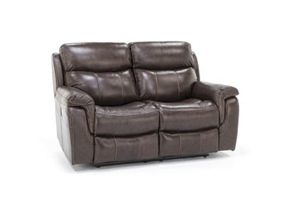 Shane Leather Power Recline with Power Headrest Loveseat