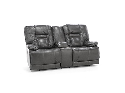 Ranger Leather Fully Loaded Console Loveseat