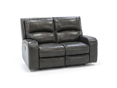 Colin Leather Power Headrest Loveseat