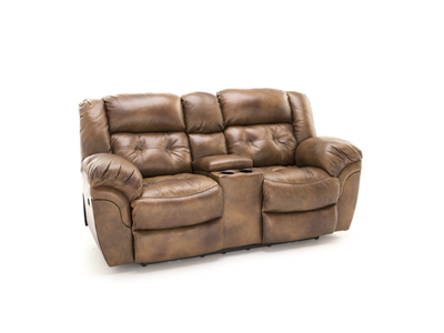 Cheyenne Saddle Power Recline Console Loveseat