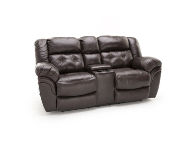 Cheyenne Whiskey Power Recline Console Loveseat