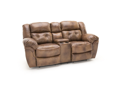 Cheyenne Saddle Reclining Console Loveseat
