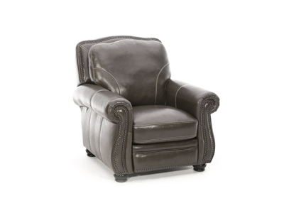 Tomar Pushback Leather Recliner