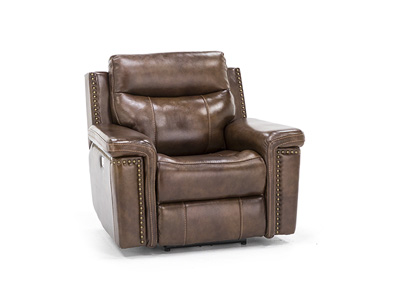 Tulsa Leather Power Recliner with Power Headrest