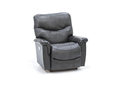 James Leather Fully Loaded Rocker Recliner