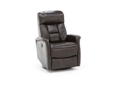 Stephanie Queen Leather Swivel Power Recliner