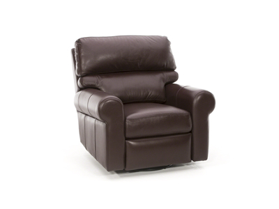 Design & Recline Brookfield Leather Swivel Glider Recliner