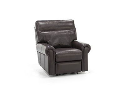Curtis Leather Power Lumbar Recliner