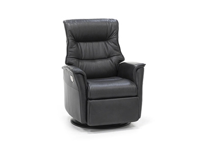 Direct Designs® Chelsie Leather Power Medium Swivel Glider Recliner