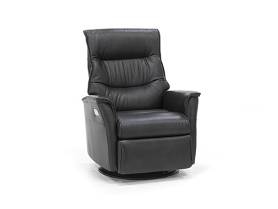 Chelsie Leather Fully Loaded Large Swivel Glider Recliner