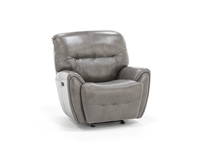 Derek Leather Power Recliner with Power Headrest
