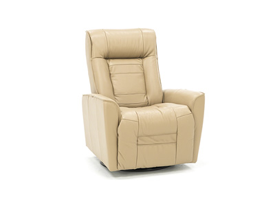 Glacier Bay Leather Power Swivel Glider Recliner