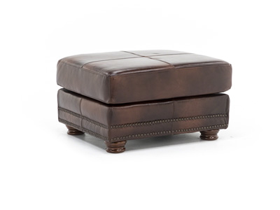 Parker II Leather Ottoman