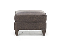 Melrose Leather Ottoman
