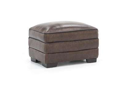Pipin Leather Ottoman