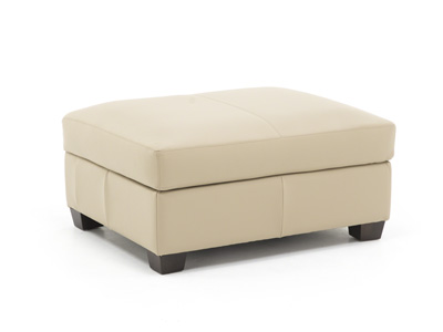 Pacific Heights Leather Ottoman