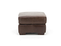 Wicker Park Leather Ottoman
