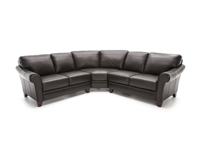 Melissa II 3-pc. Brown Sectional