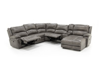 Laredo II Grey 6-pc. Extra Wide Seating Sectional