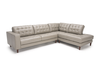 Davenport 2-pc. Leather Sectional