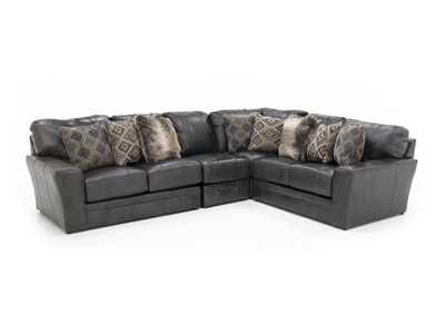 Camden Leather 4-pc. Sectional