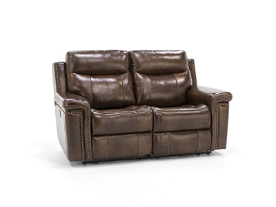 Tulsa Leather Power Recline with Power Headrest Loveseat