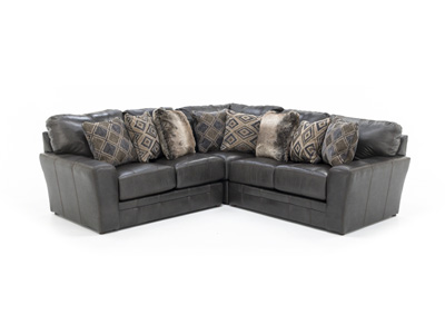 Camden Leather 3-pc. Sectional