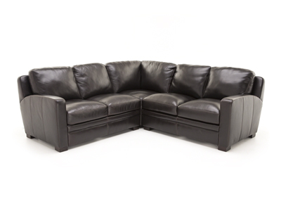 Carson Leather 3-pc.Sectional
