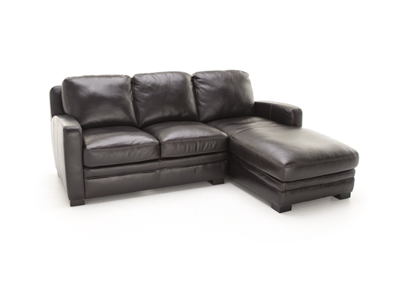 Carson 2-Pc. Leather Chaise Sofa