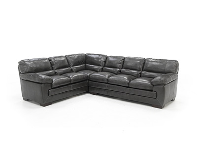 Midos 2-Pc. Leather Sectional