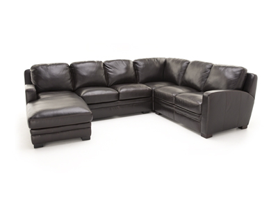 Carson Leather 4-pc.Sectional