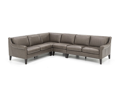 Catania 4-Pc. Leather Sectional
