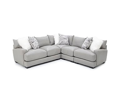 Chiara 4-Pc. Leather Sectional
