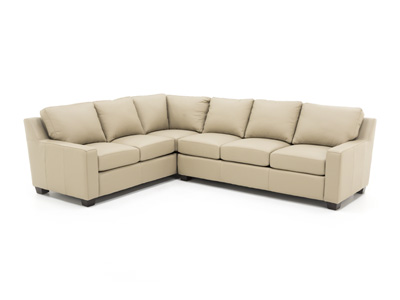 Pacific Heights Leather 2-pc. Sectional