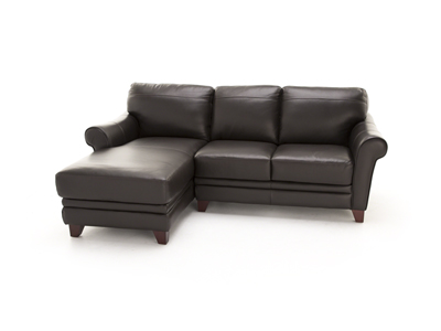 Melissa II 2-pc. Dark Brown Sectional