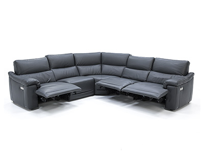 Florence 5-Pc. Leather Fully Loaded Reclining Sectional