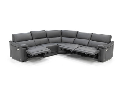 Florence 5-pc. Leather Fully Loaded Sectional