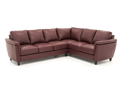 Lucca Leather 2-pc. Sectional