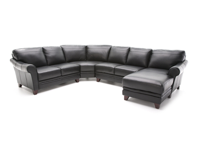 Melissa II 4-pc. Black Sectional