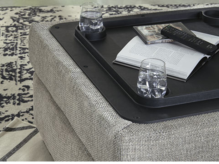 Matrix Storage Cocktail Ottoman