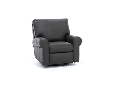 Design and Recline Paramount Leather Swivel Glider Recliner
