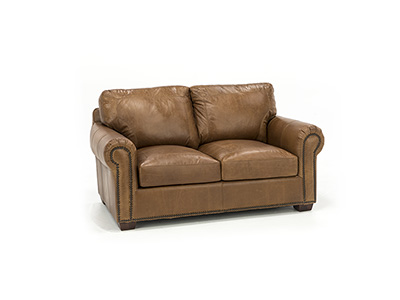 Cedar City Leather Loveseat