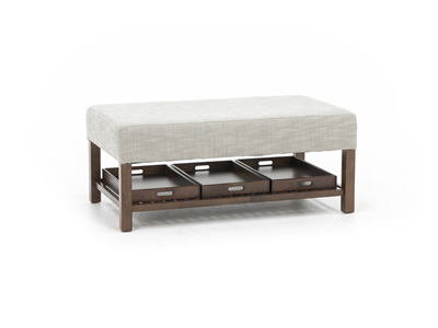 Trayce Rectangle Cocktail Ottoman