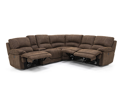 Roselle 6-pc. Power Recline Sectional